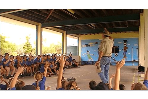 School visits by Ranger Nick